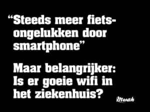 Gebruik smartphone in verkeer