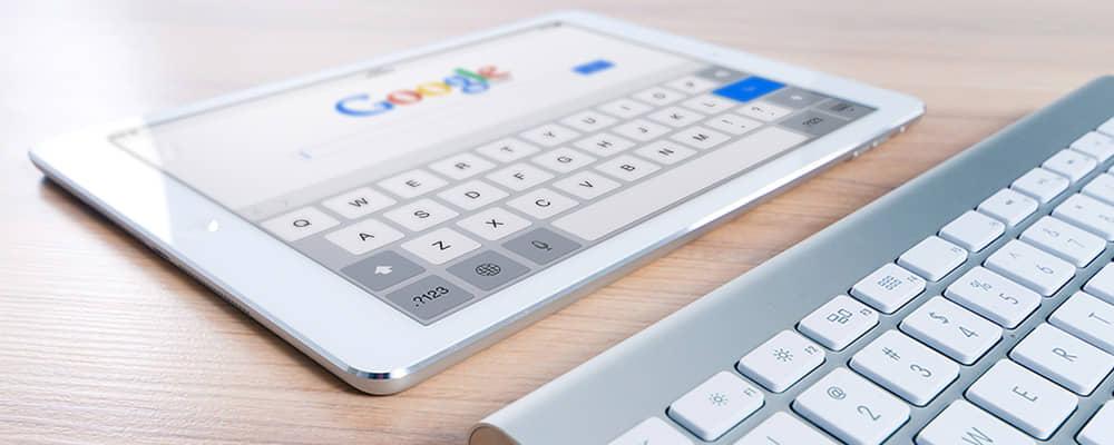 Tablet en toetsenbord