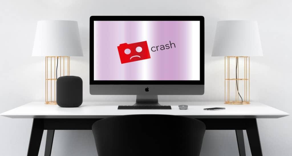 Website offline crash