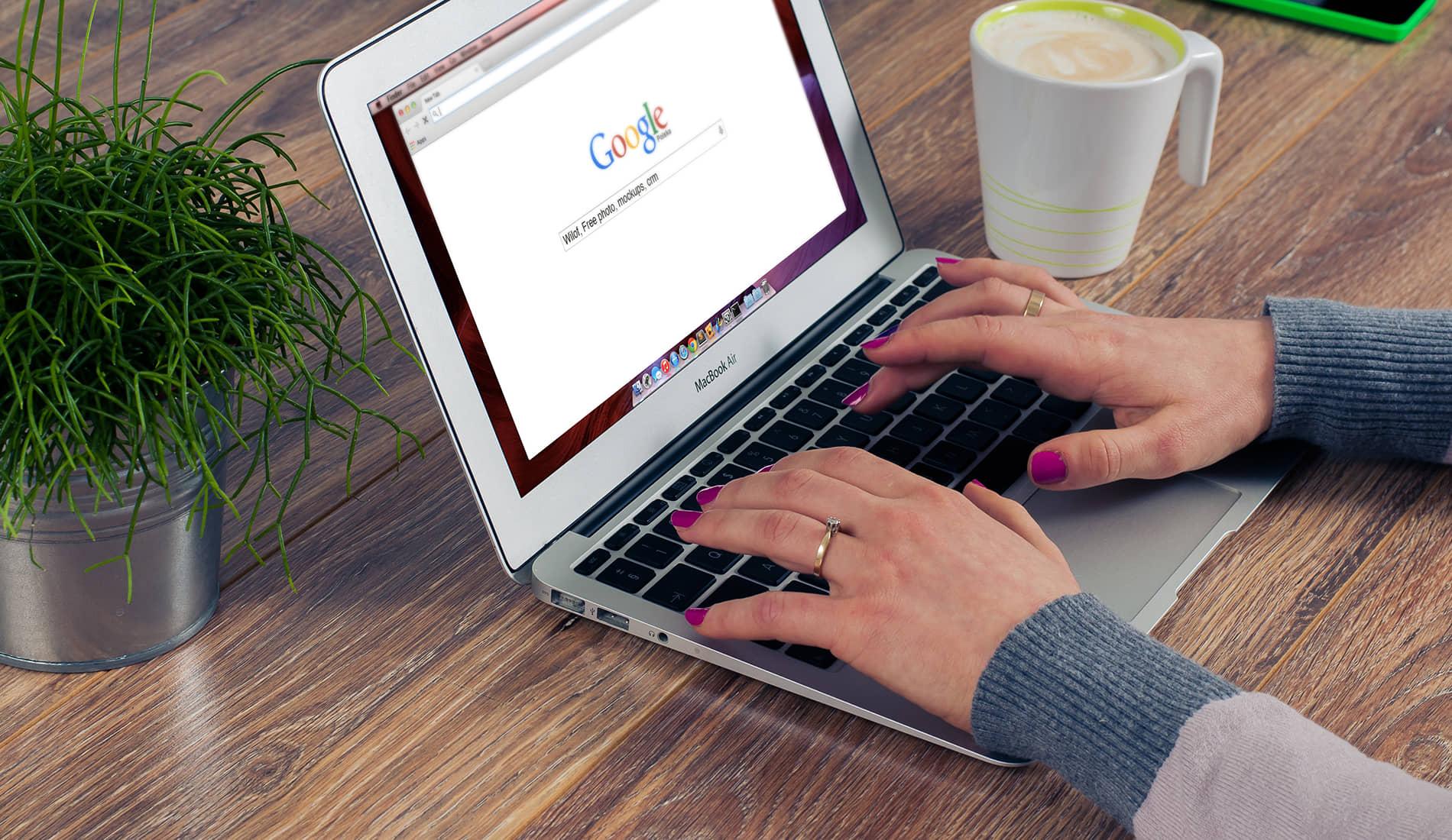 Google met vergrootglas